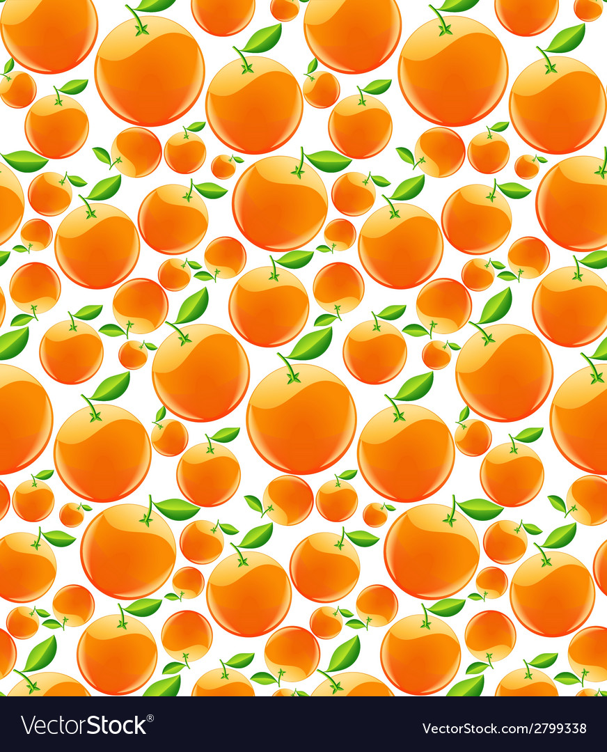 Orange seamless pattern vector | Price: 1 Credit (USD $1)