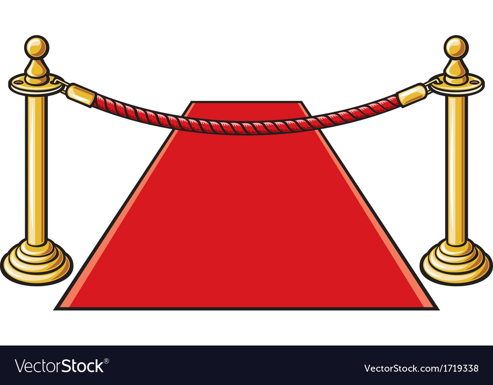 Red carpet and rope barrier vector | Price: 1 Credit (USD $1)
