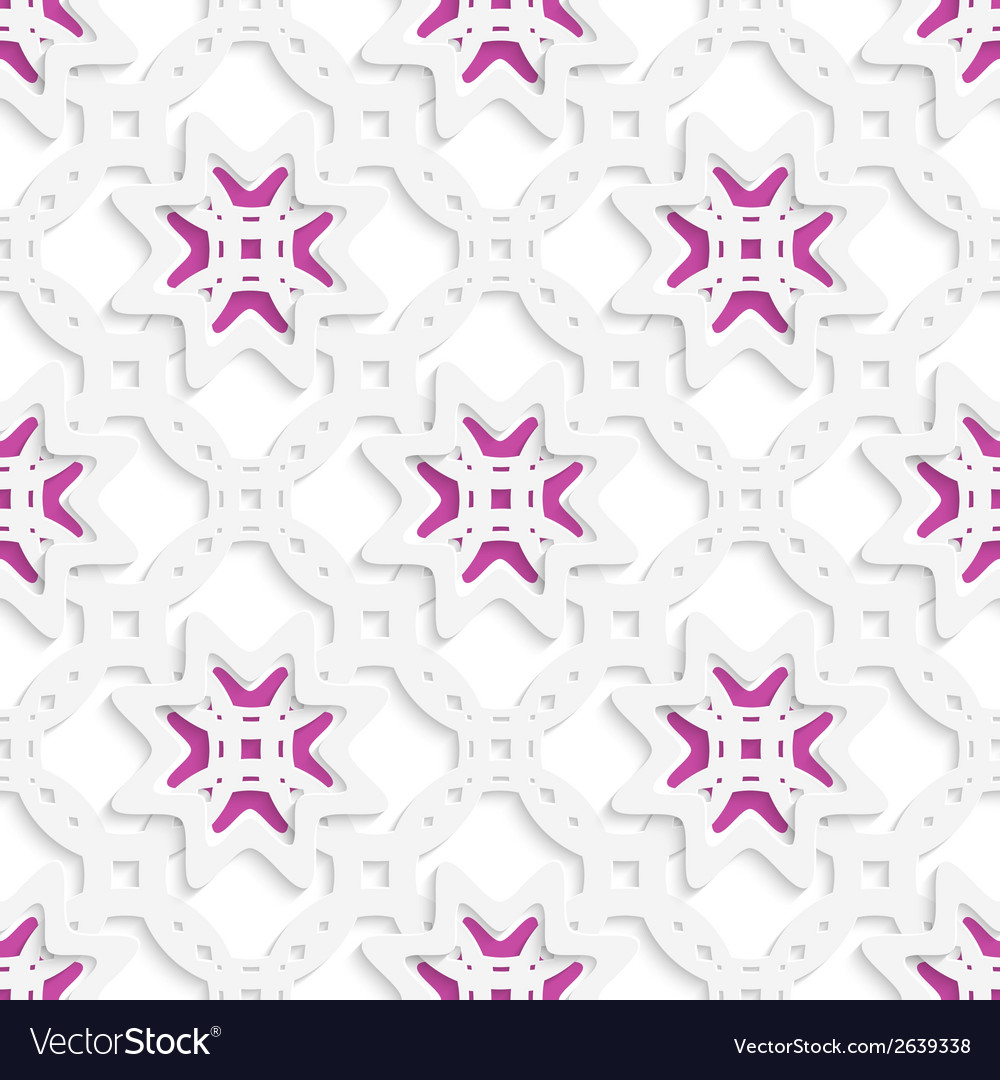 White perforated ornament layered with stars vector | Price: 1 Credit (USD $1)