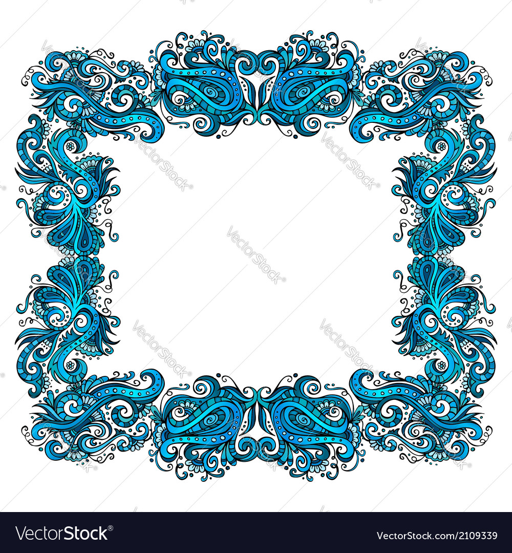 Abstract simple floral border vector | Price: 1 Credit (USD $1)