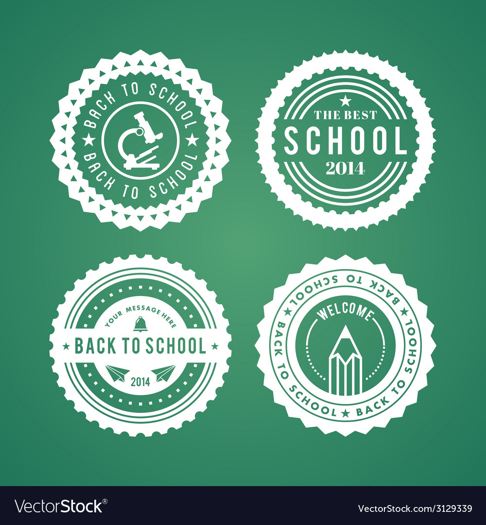 Back to school design elements retro style and vector | Price: 1 Credit (USD $1)