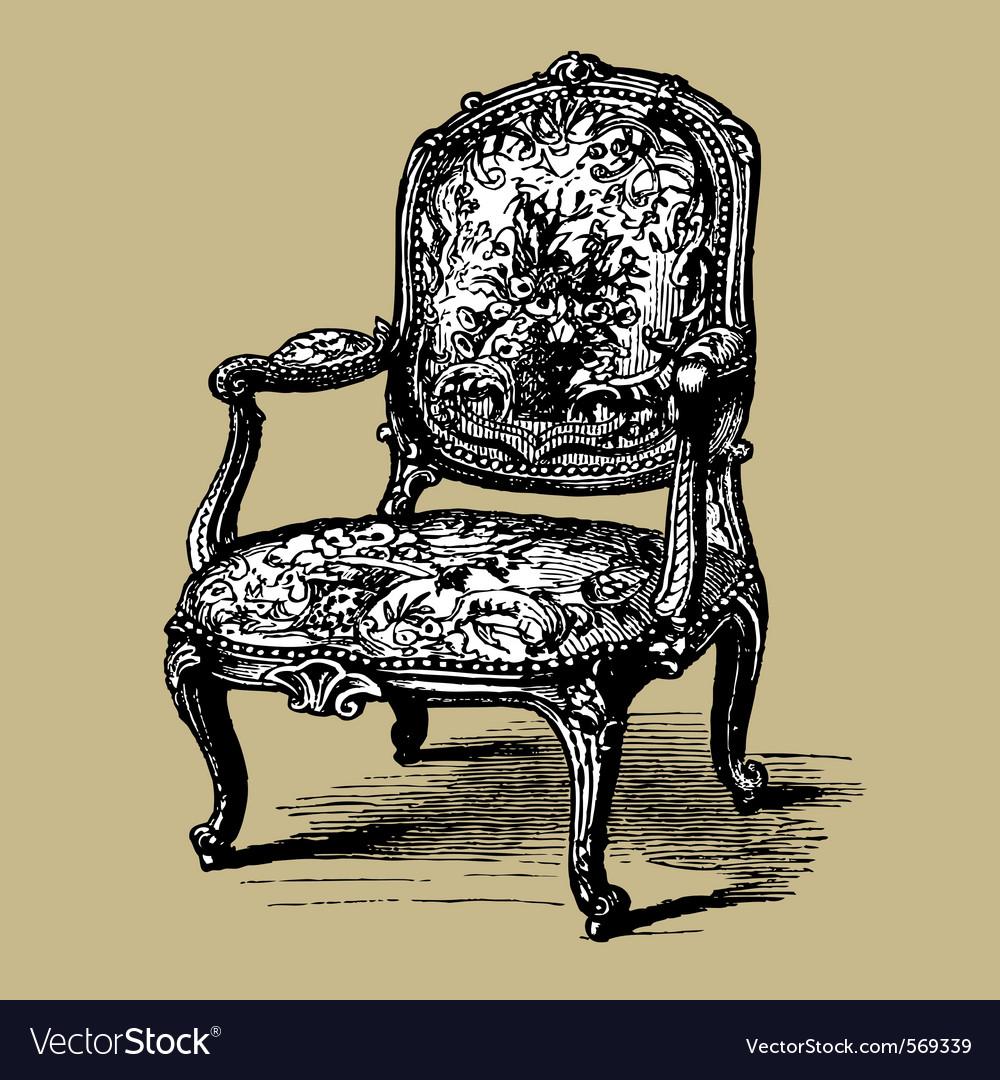 Baroque armchair vector | Price: 1 Credit (USD $1)
