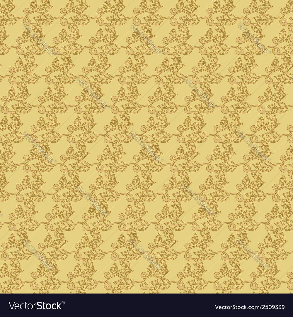 Beige floral wallpaper background vector | Price: 1 Credit (USD $1)