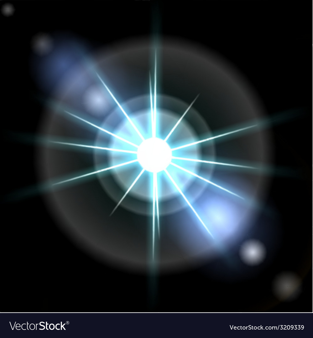 Blue luminous star lens flare effect vector | Price: 1 Credit (USD $1)