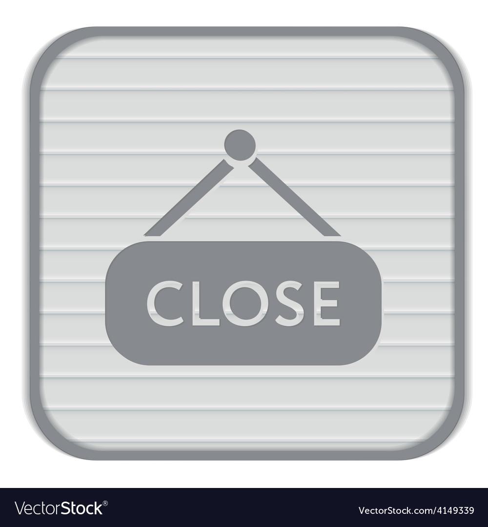 Close label sign symbol icon tablet closed vector   Price: 1 Credit (USD $1)