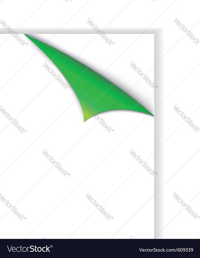 Corner shopping tag green colored vector | Price: 1 Credit (USD $1)