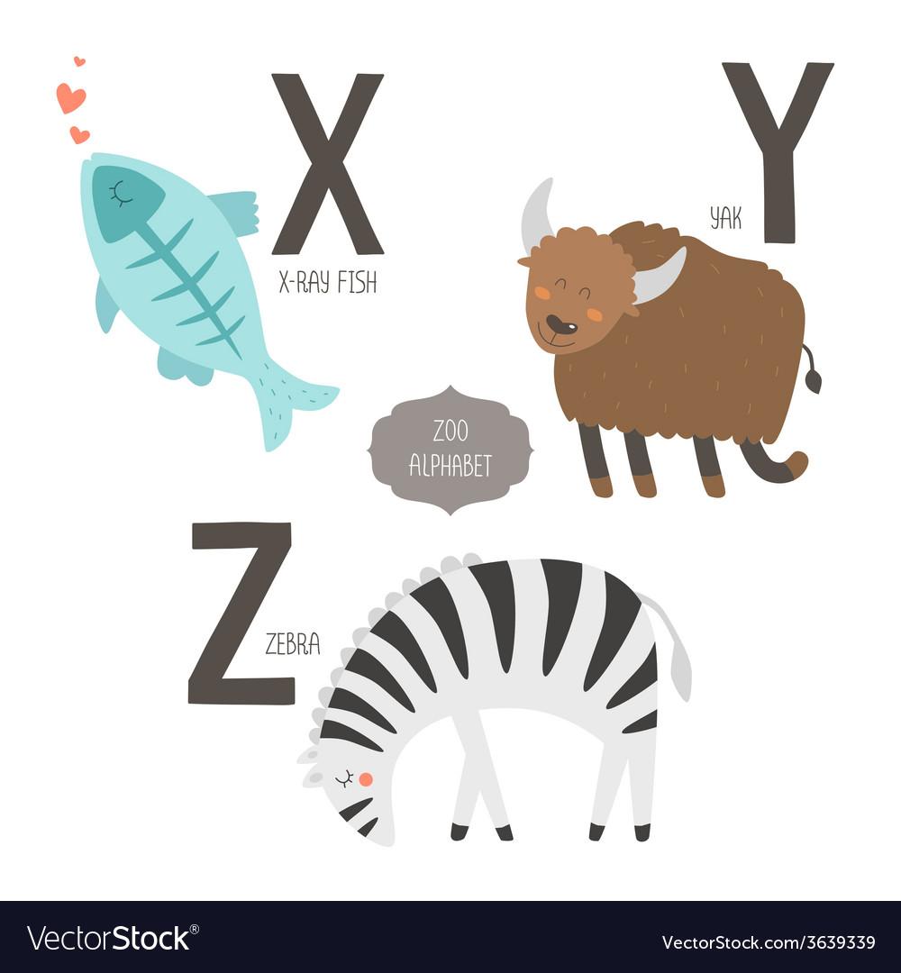 Cute zoo alphabet vector   Price: 1 Credit (USD $1)
