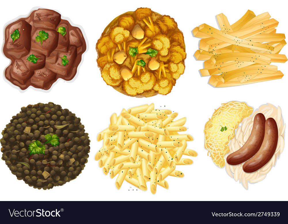 Different sets of foods vector | Price: 1 Credit (USD $1)