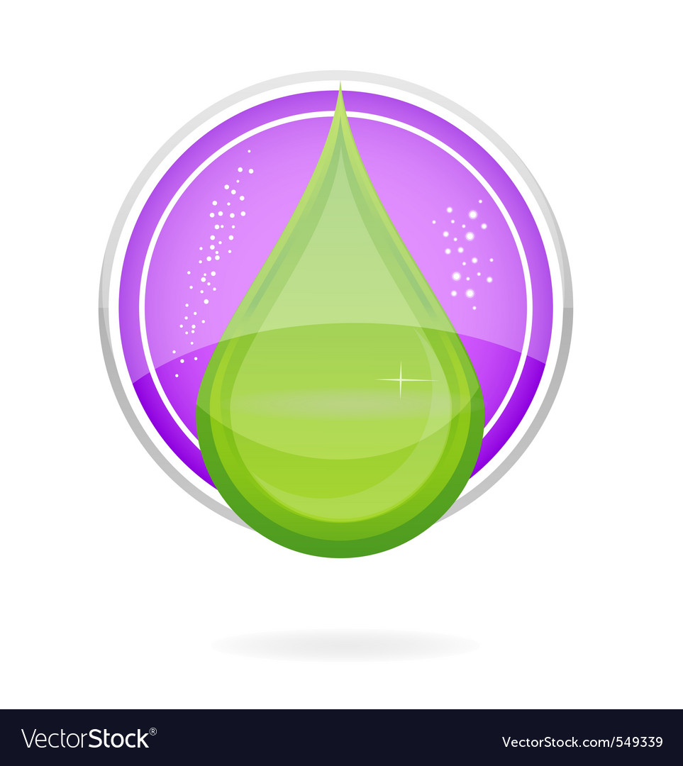 Energy nature drop sign eco green color vector | Price: 1 Credit (USD $1)