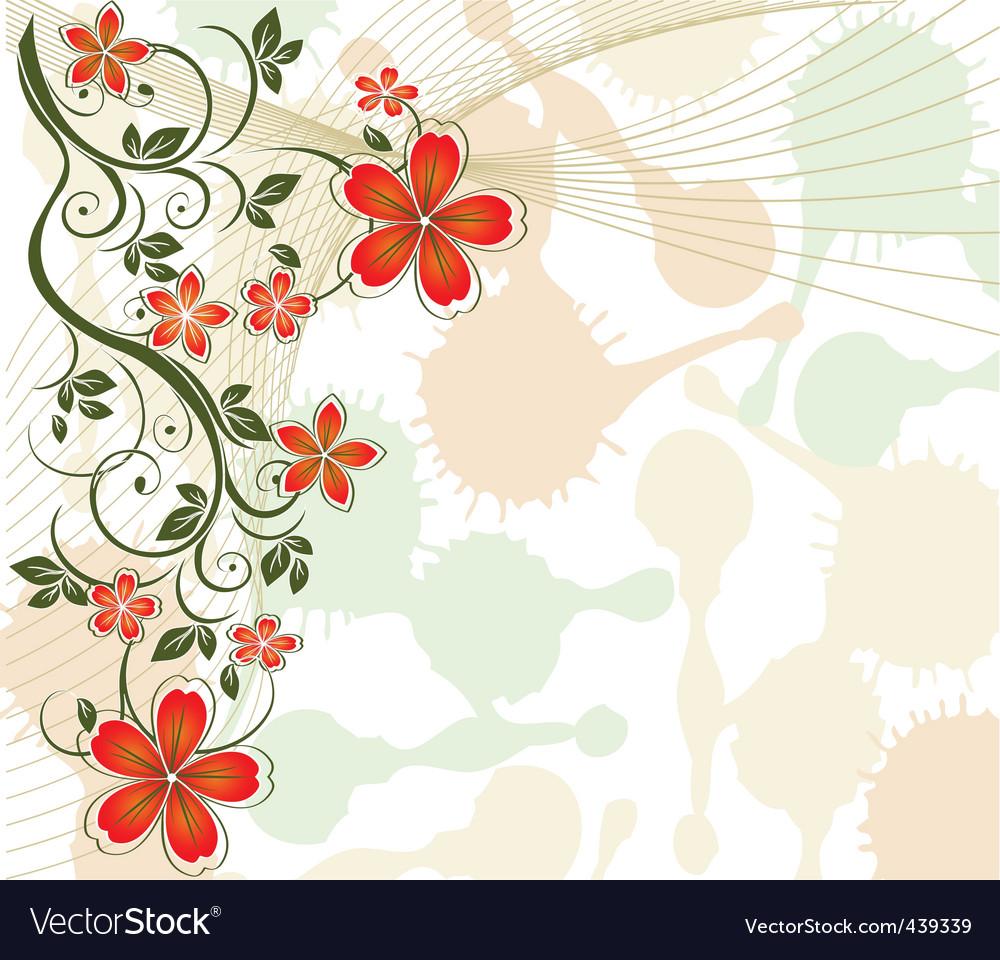 Floral vine background vector | Price: 1 Credit (USD $1)