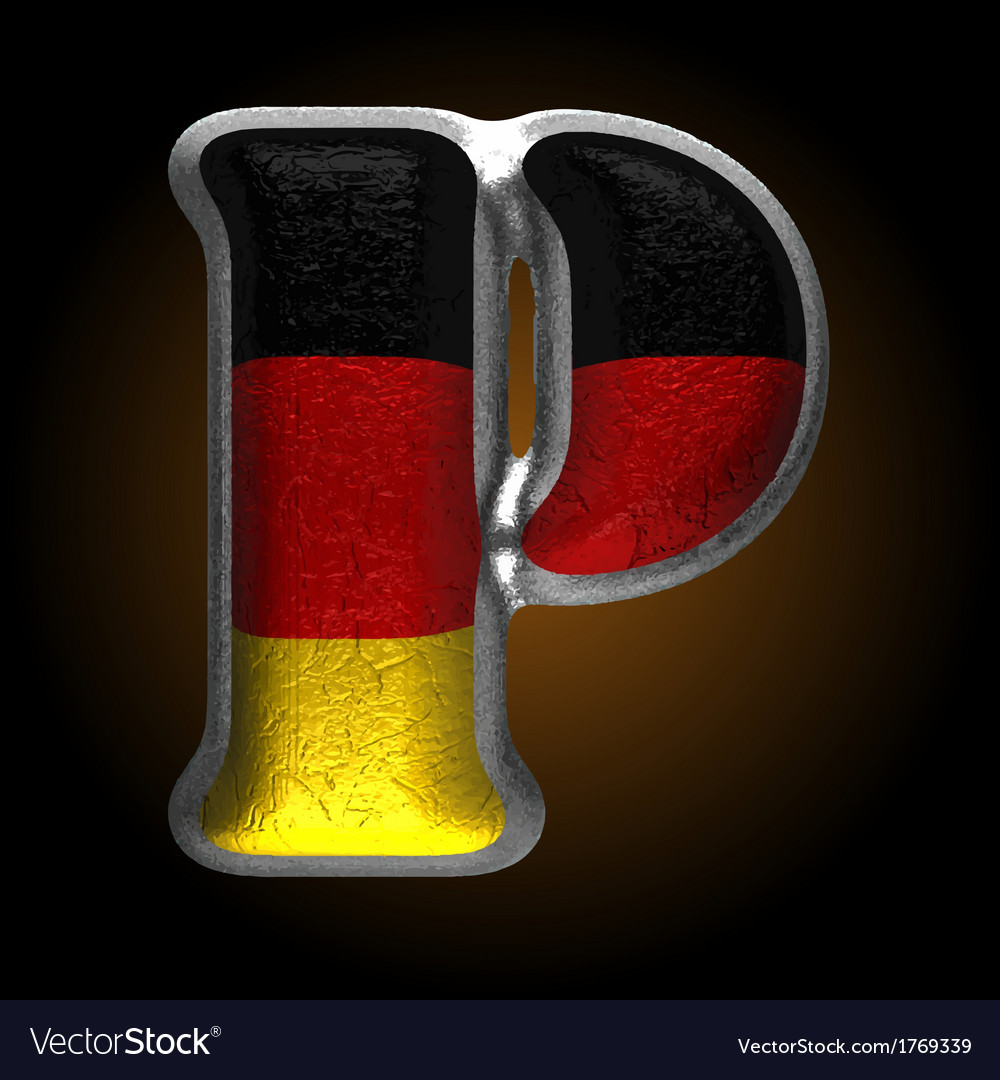 Germany metal figure p vector | Price: 1 Credit (USD $1)