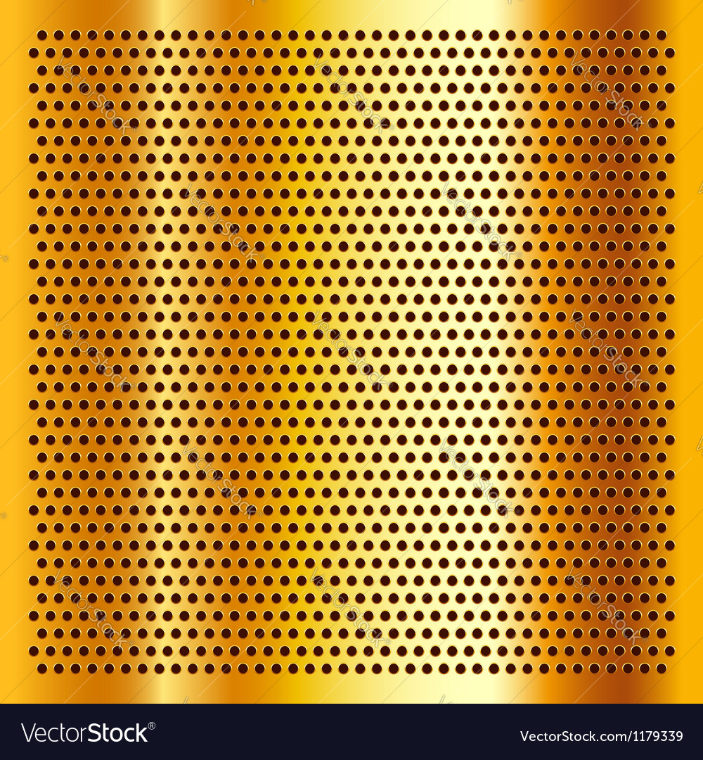 Golden perforated sheet vector | Price: 1 Credit (USD $1)