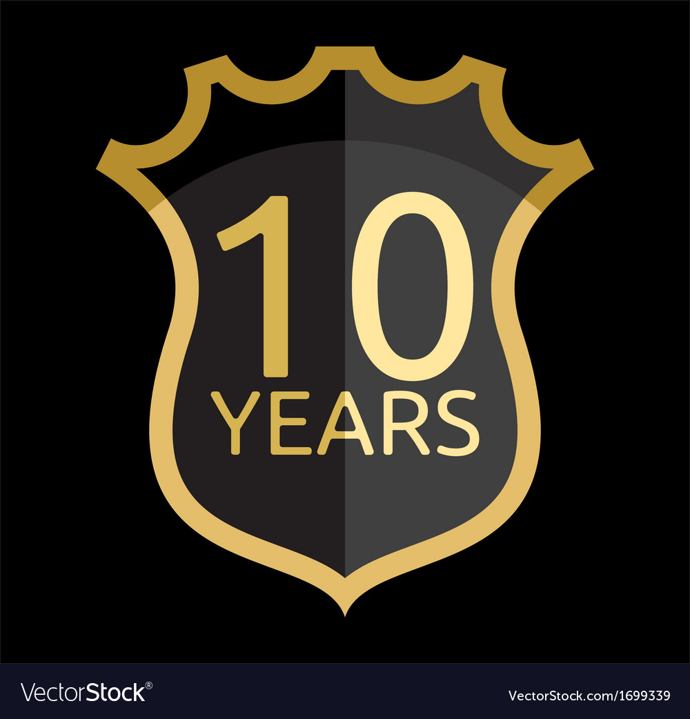 Golden shield years vector | Price: 1 Credit (USD $1)