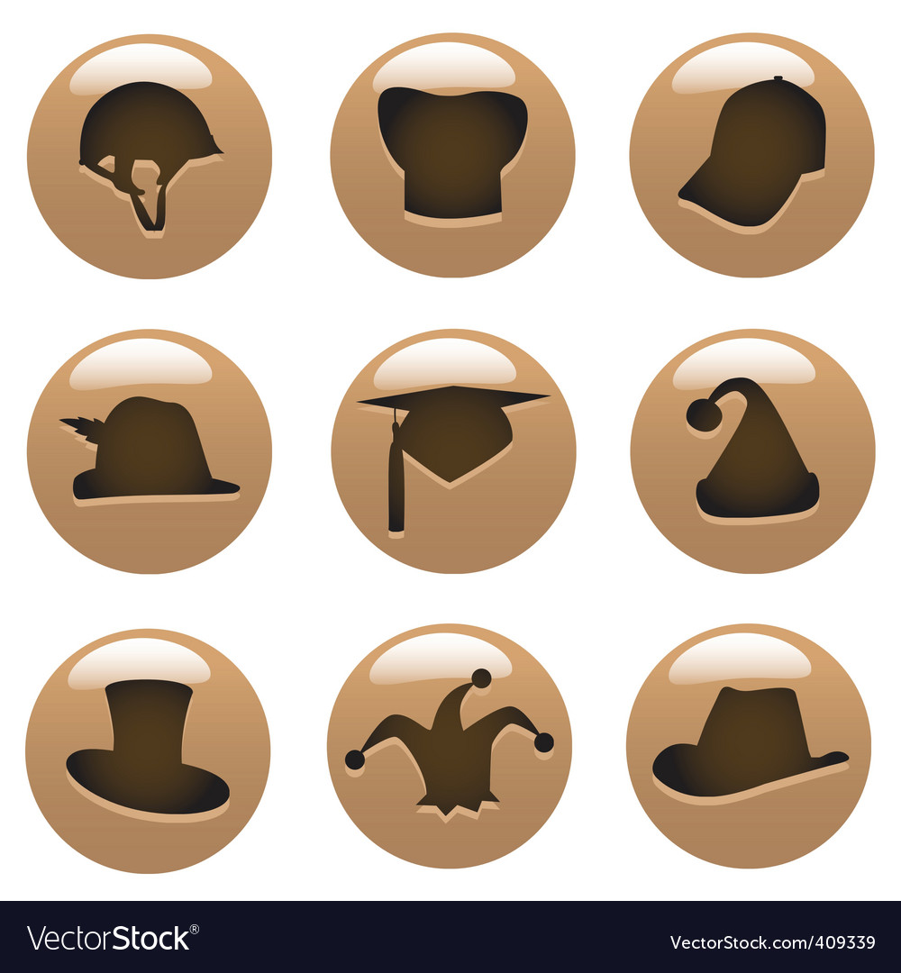 Hat icons vector   Price: 1 Credit (USD $1)