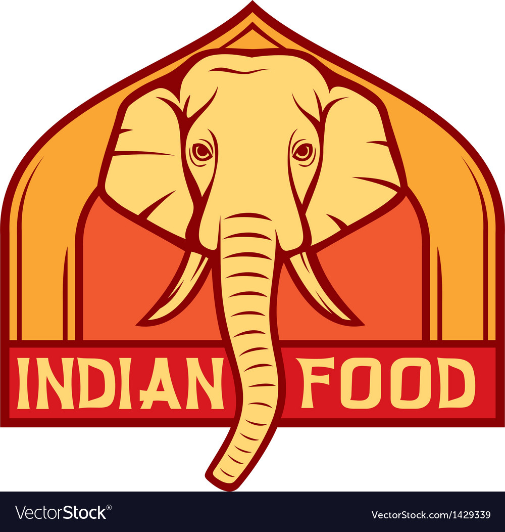 Indian food label design vector | Price: 1 Credit (USD $1)