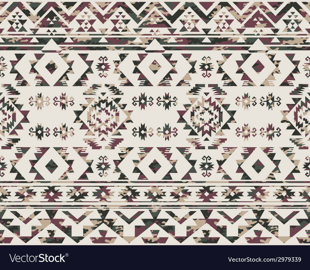 Native americans pattern with camouflage texture vector | Price: 1 Credit (USD $1)