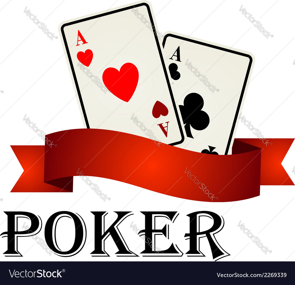 Poker emblem with cards vector | Price: 1 Credit (USD $1)