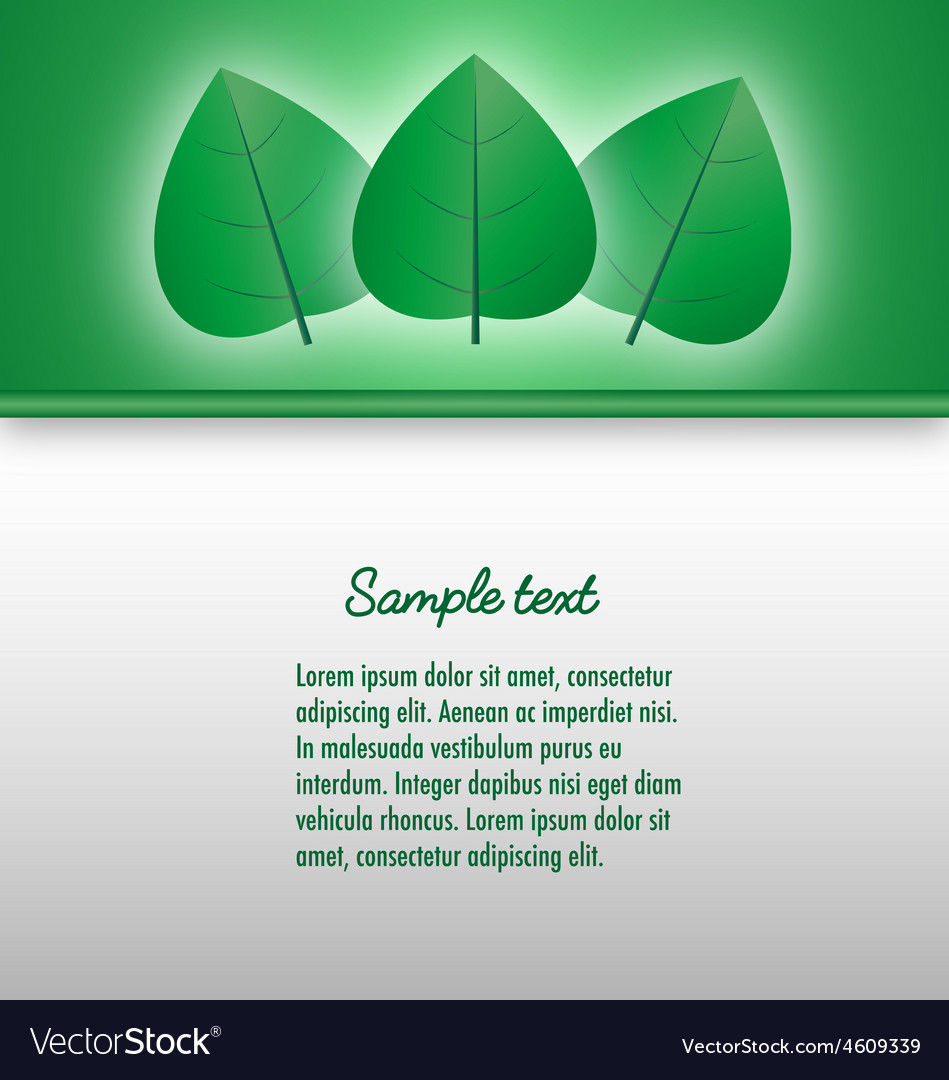 Presentation document template with glowing leaves vector | Price: 1 Credit (USD $1)