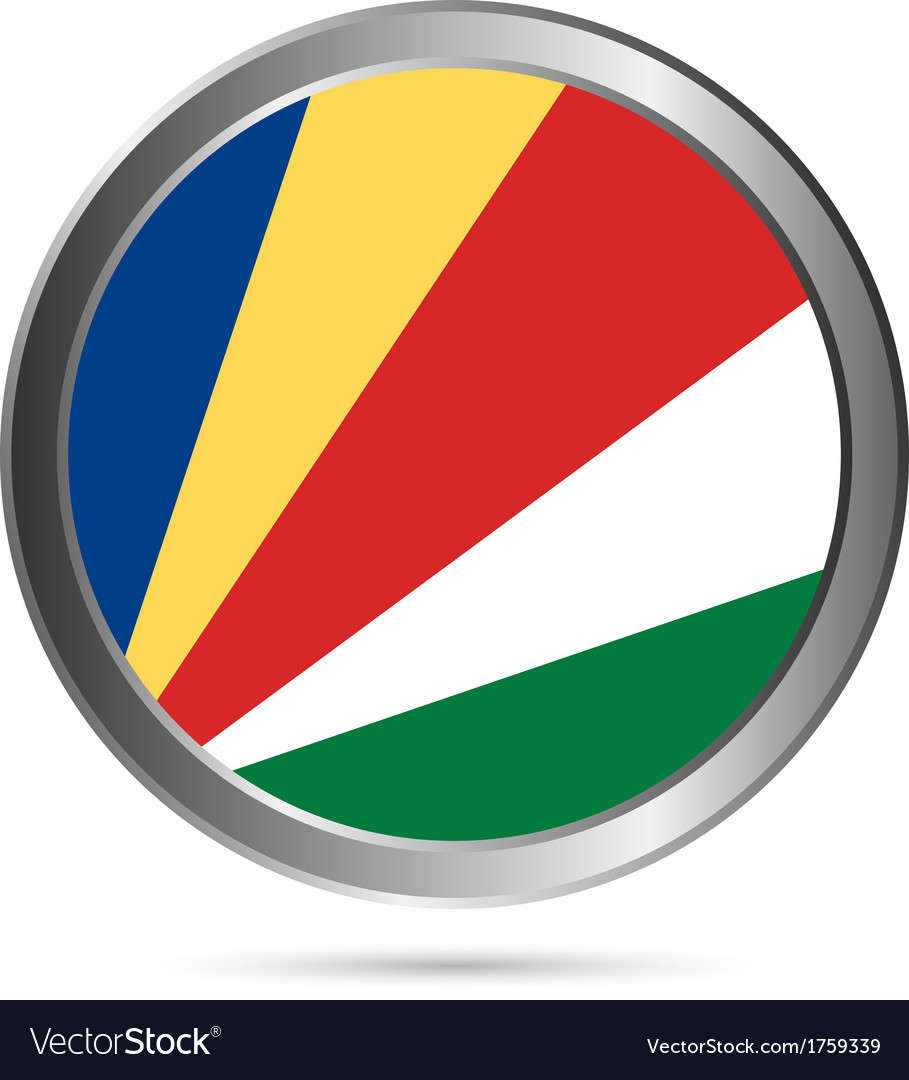 Seychelles flag button vector | Price: 1 Credit (USD $1)