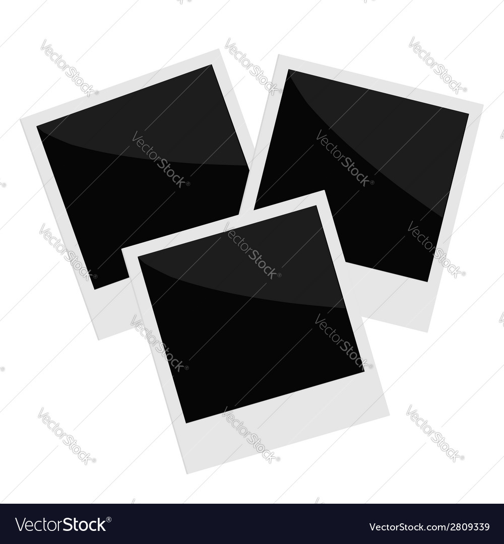 Three isolated photo in flat design style template vector | Price: 1 Credit (USD $1)