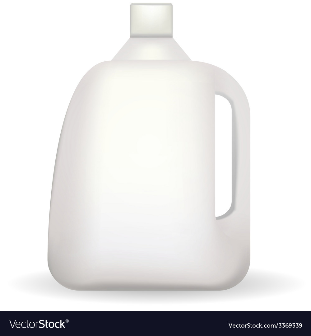 White plastic bottle vector | Price: 1 Credit (USD $1)