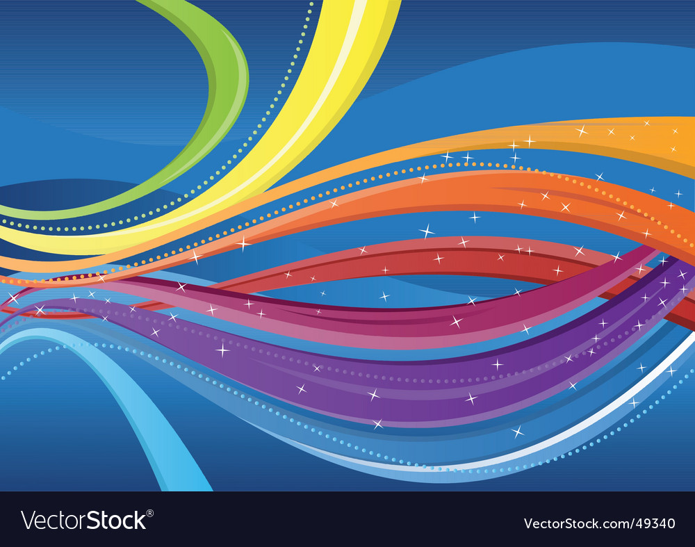 Abstract background colorful waves vector | Price: 1 Credit (USD $1)