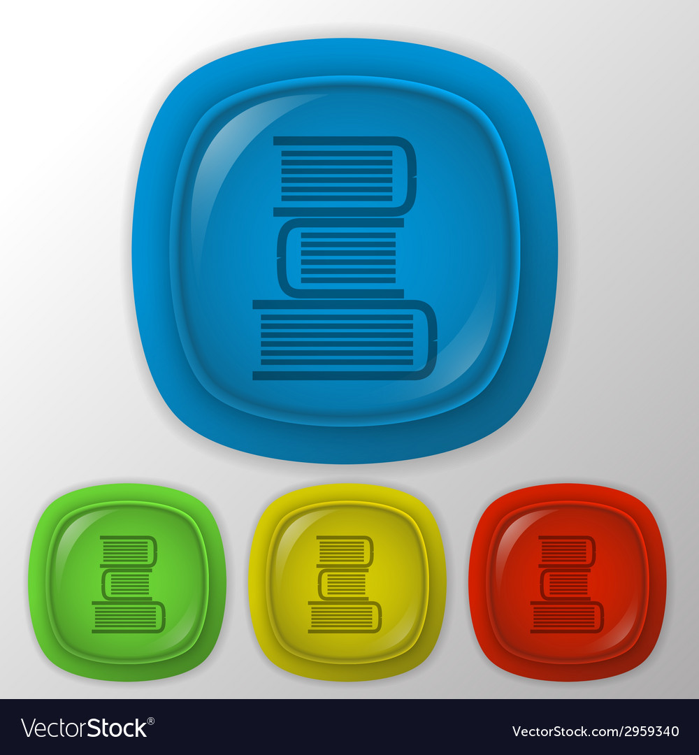 Books tower icon education sign vector | Price: 1 Credit (USD $1)