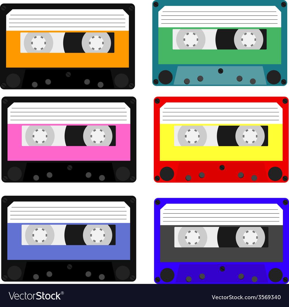 Cassete set vector | Price: 1 Credit (USD $1)