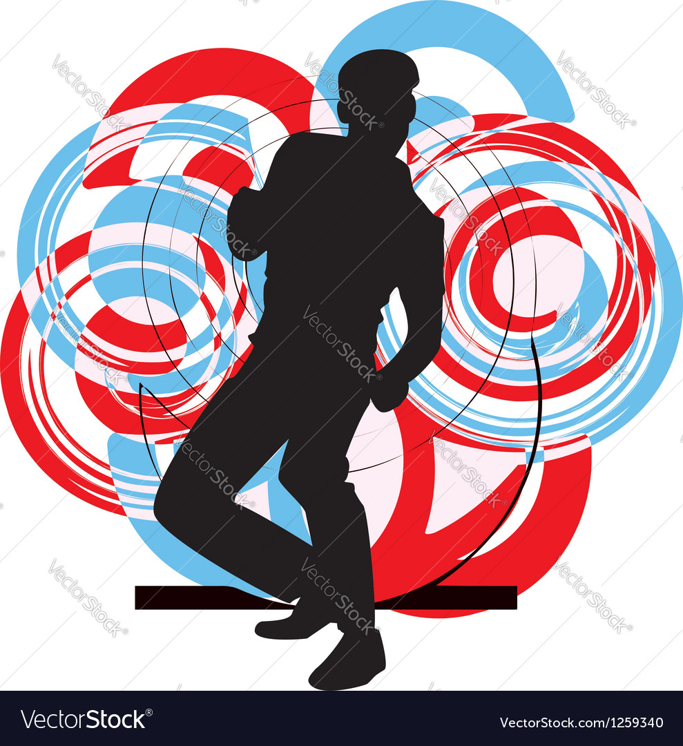 Dancing man vector | Price: 1 Credit (USD $1)