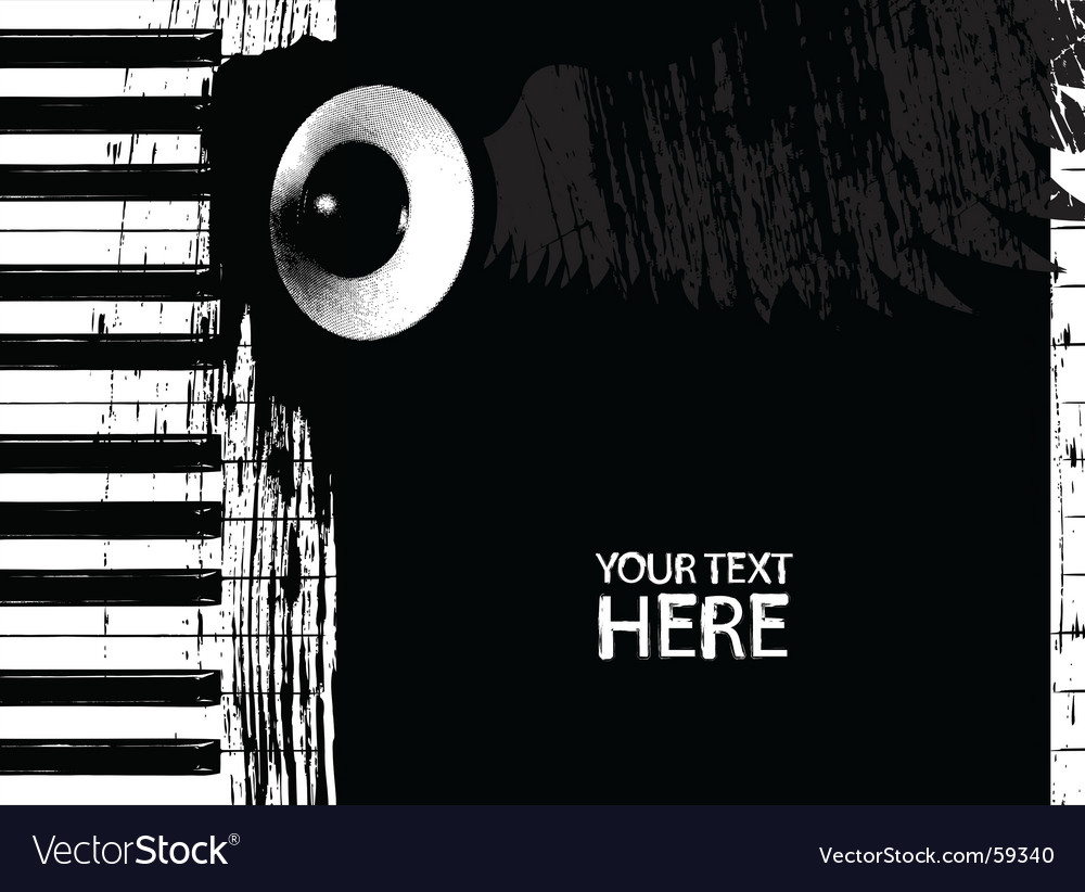 Dirty piano keys and speaker vector | Price: 1 Credit (USD $1)