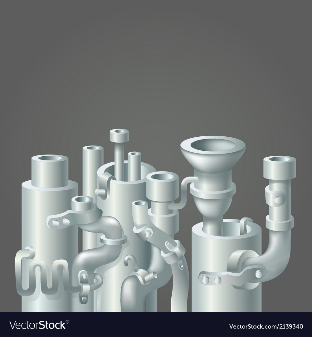 Industrial metal pipe stack design ecology vector | Price: 1 Credit (USD $1)