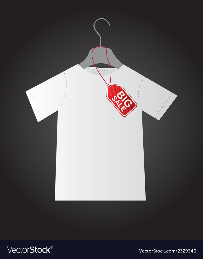 Shirt with tag vector | Price: 1 Credit (USD $1)