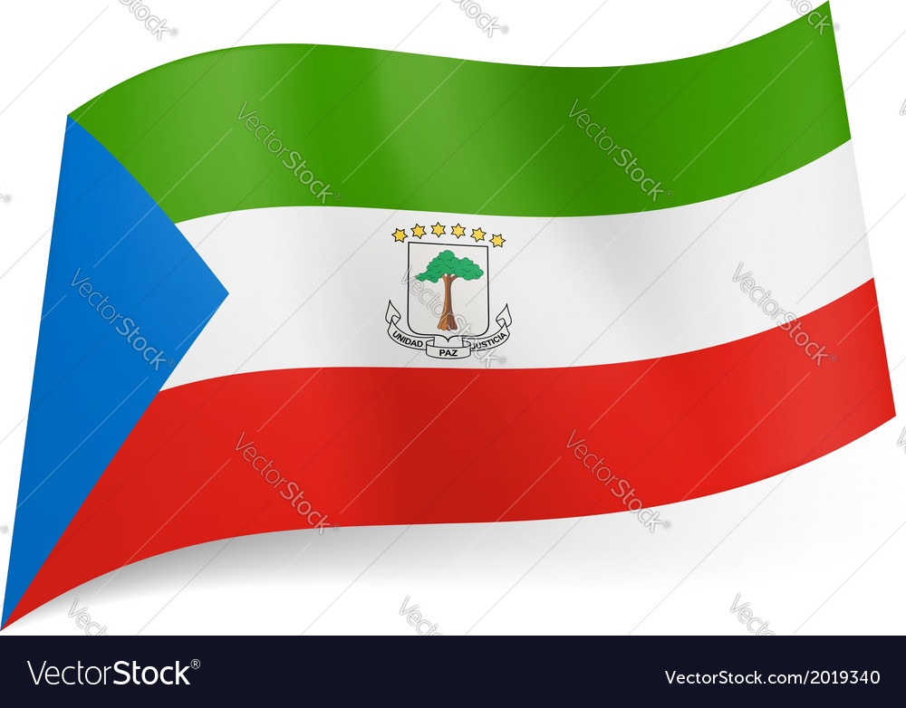 State flag of equatorial guinea vector   Price: 1 Credit (USD $1)