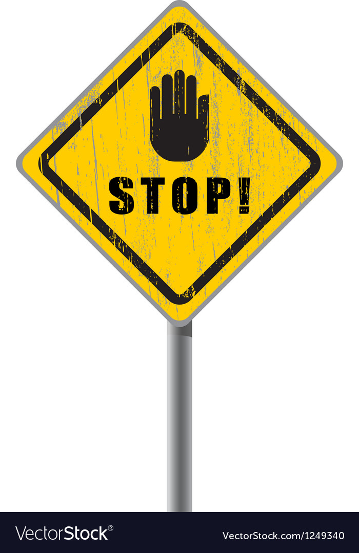 Stop scratched road sign vector | Price: 1 Credit (USD $1)