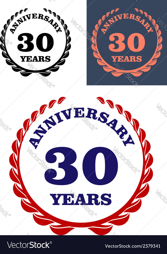 Anniversary laurel wreath design vector | Price: 1 Credit (USD $1)