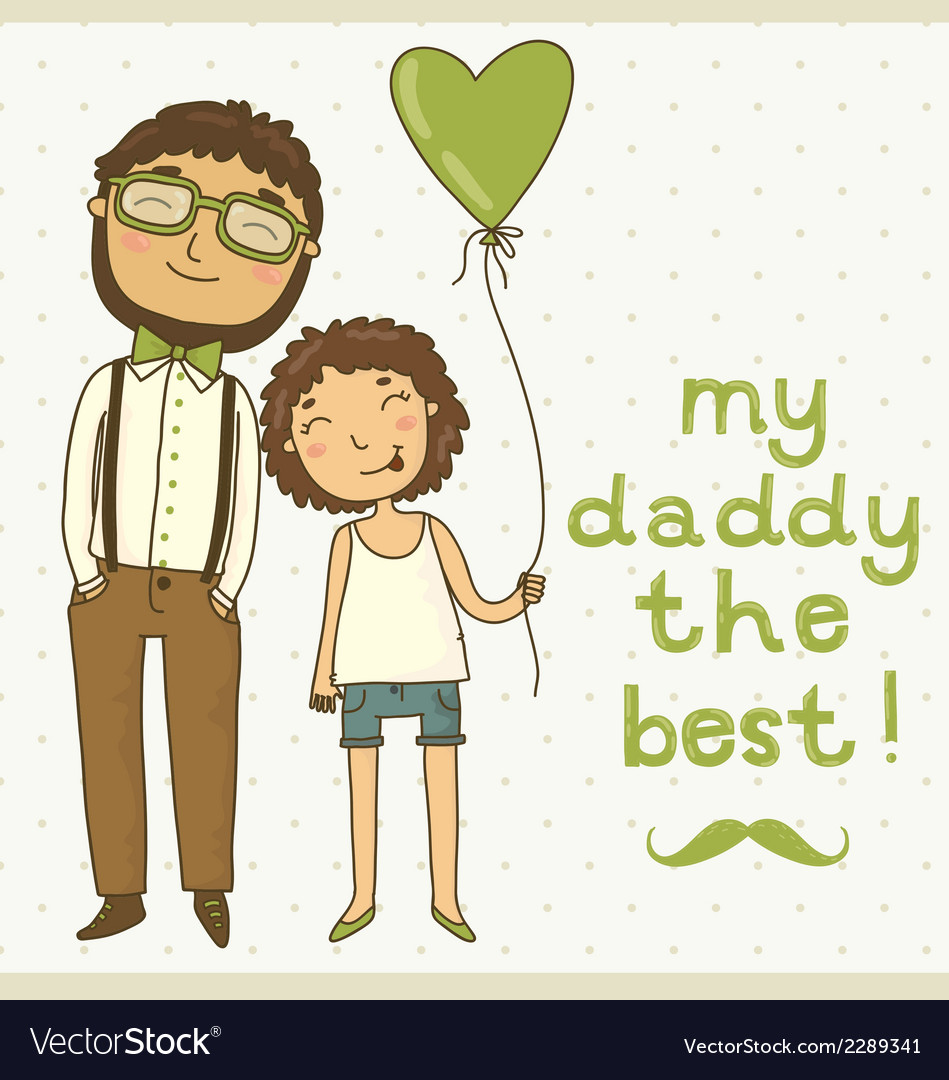 Beautiful of a father and daughter vector | Price: 1 Credit (USD $1)