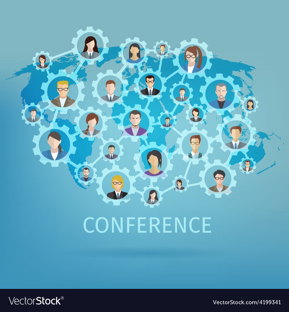 Business conference concept vector | Price: 1 Credit (USD $1)