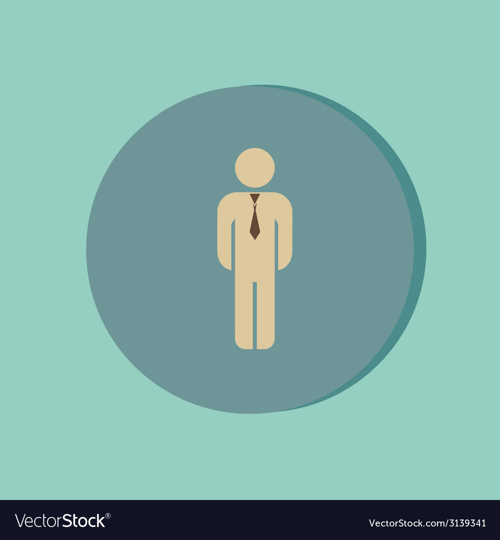Business man in a tie vector | Price: 1 Credit (USD $1)