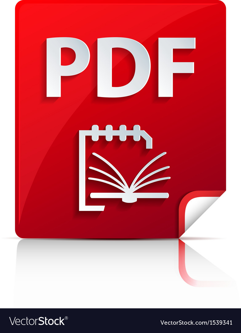 Embossed pdf file icon vector | Price: 1 Credit (USD $1)