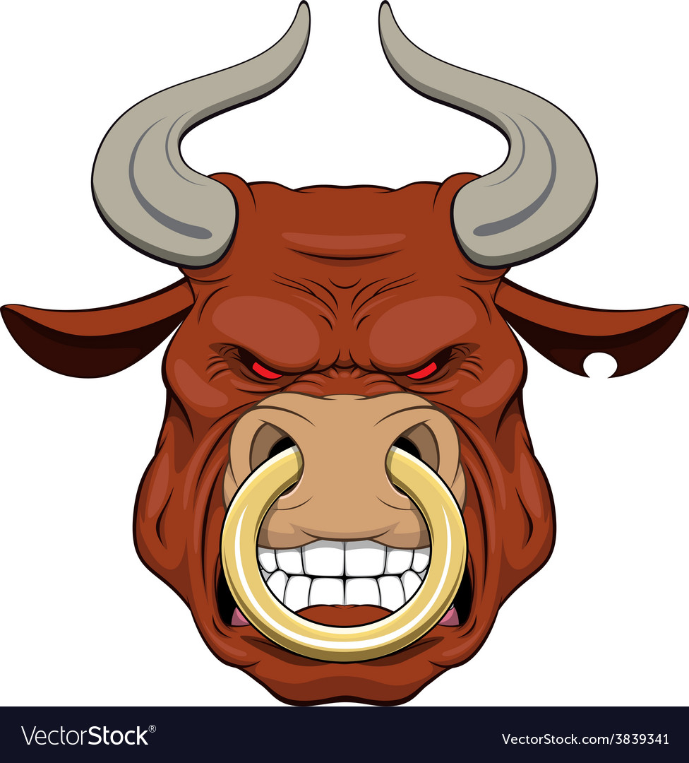 Ferocious bull vector | Price: 3 Credit (USD $3)