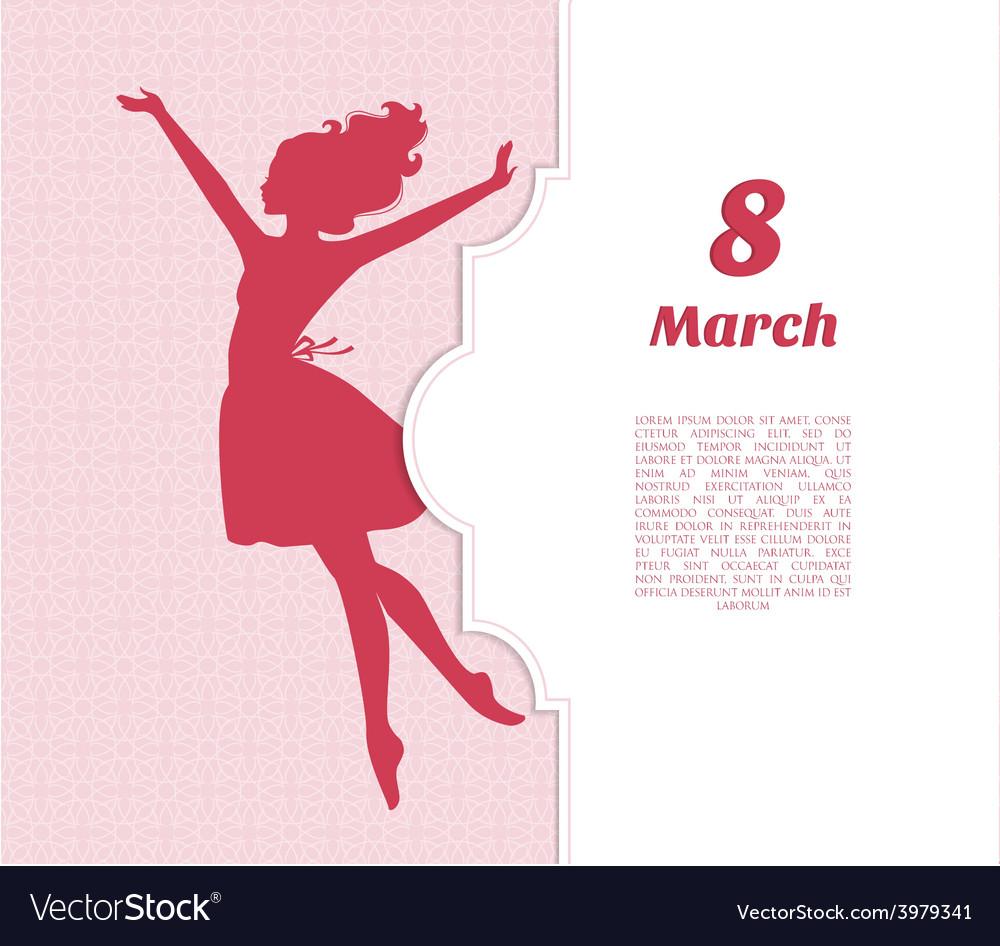 Happy women day background vector