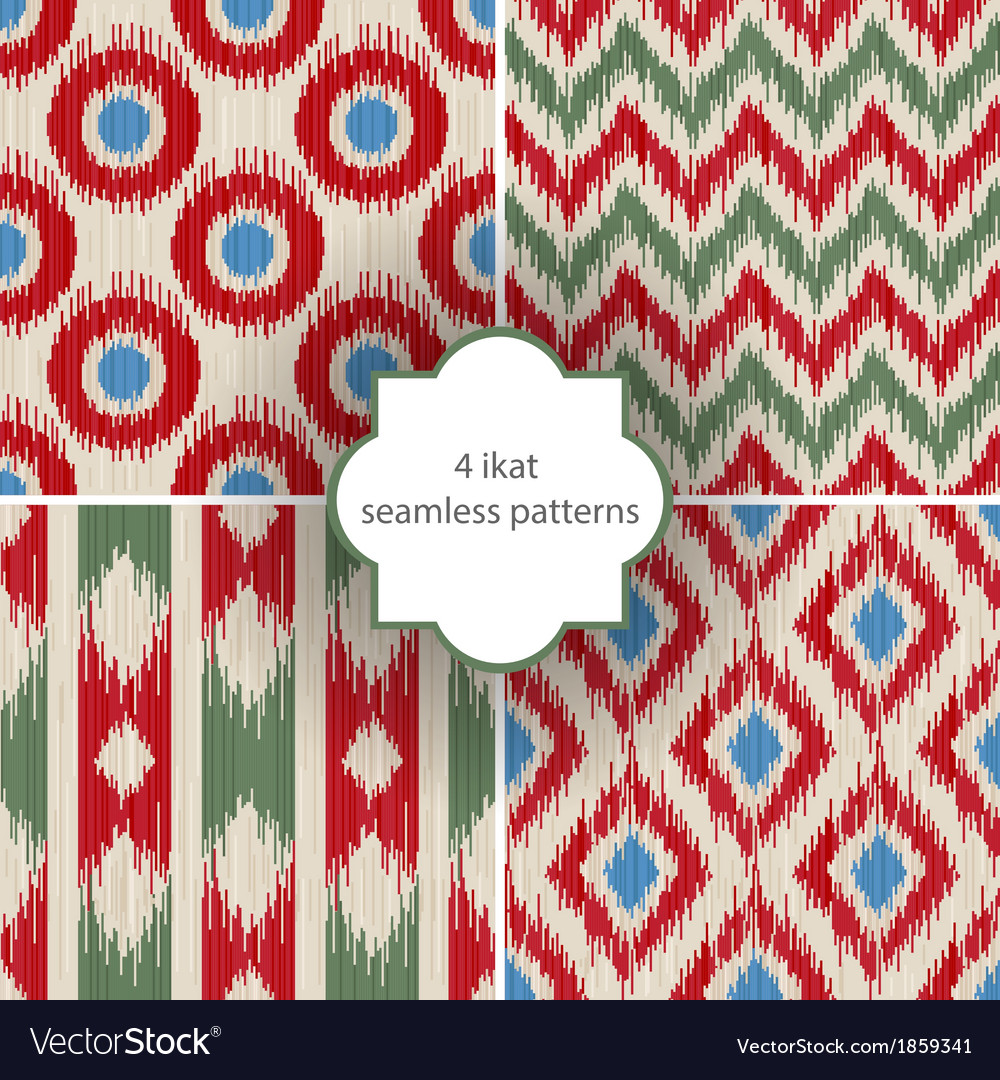 Ikat patterns vector | Price: 1 Credit (USD $1)
