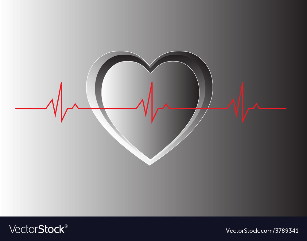 Lonely heart beat vector | Price: 1 Credit (USD $1)