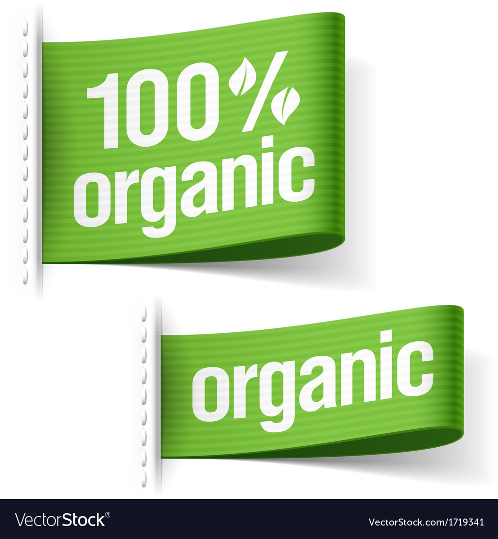 Organic product labels vector | Price: 1 Credit (USD $1)