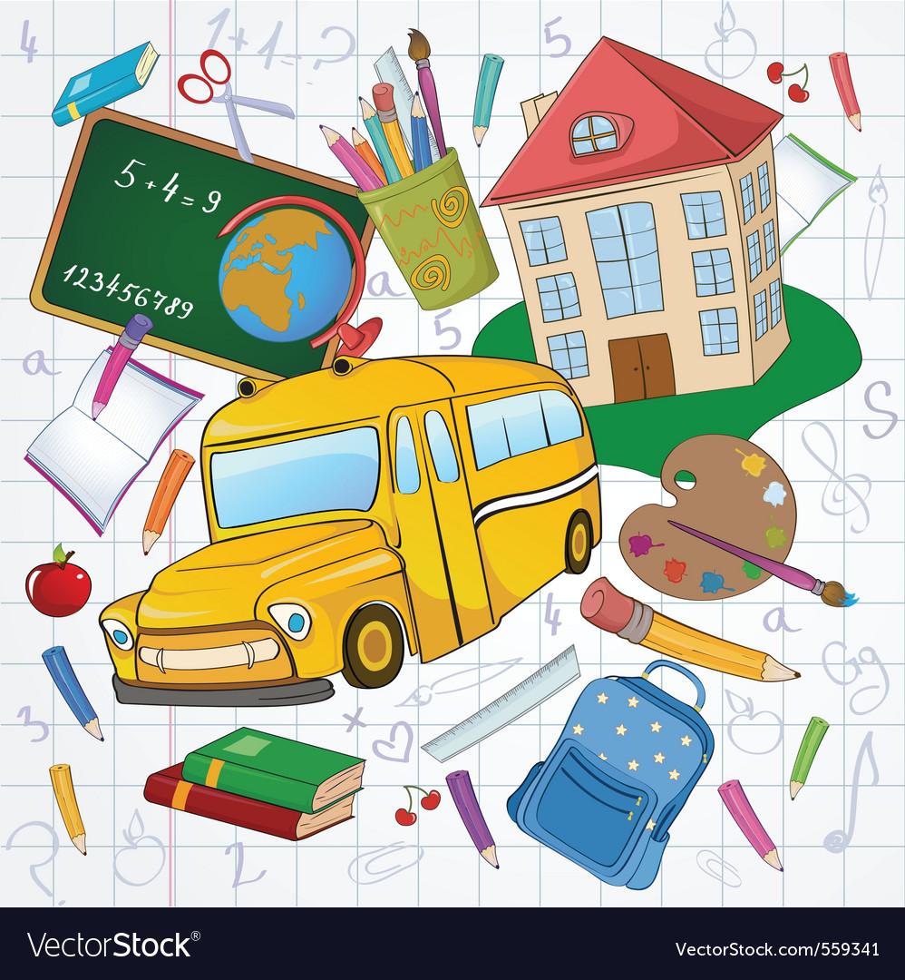 School icons vector | Price: 3 Credit (USD $3)