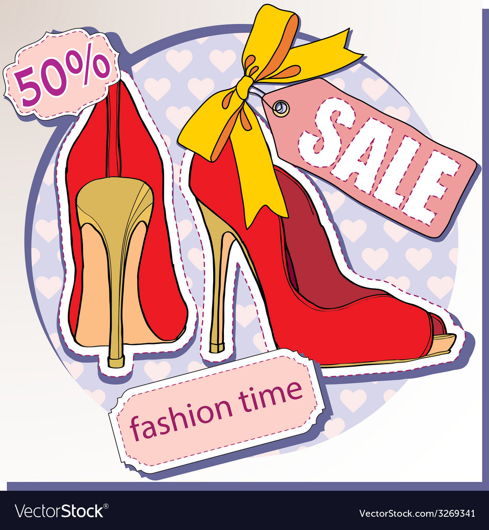 Selling shoes vector   Price: 1 Credit (USD $1)
