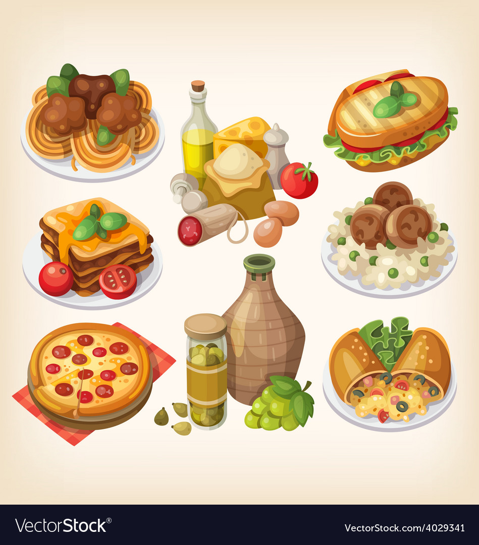 Set of italian food vector | Price: 3 Credit (USD $3)
