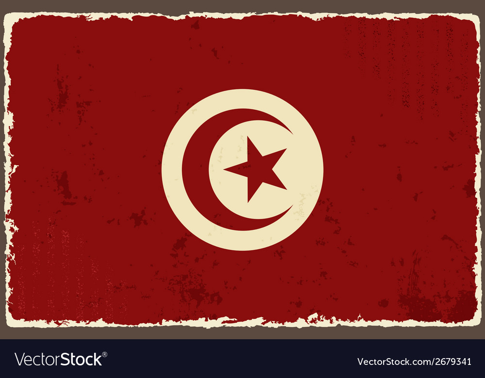 Tunisian grunge flag vector   Price: 1 Credit (USD $1)
