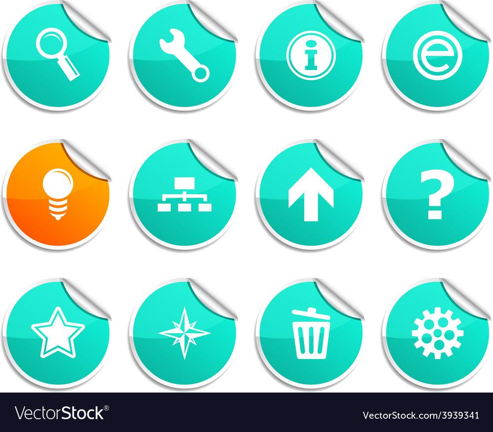Web stickers vector | Price: 1 Credit (USD $1)