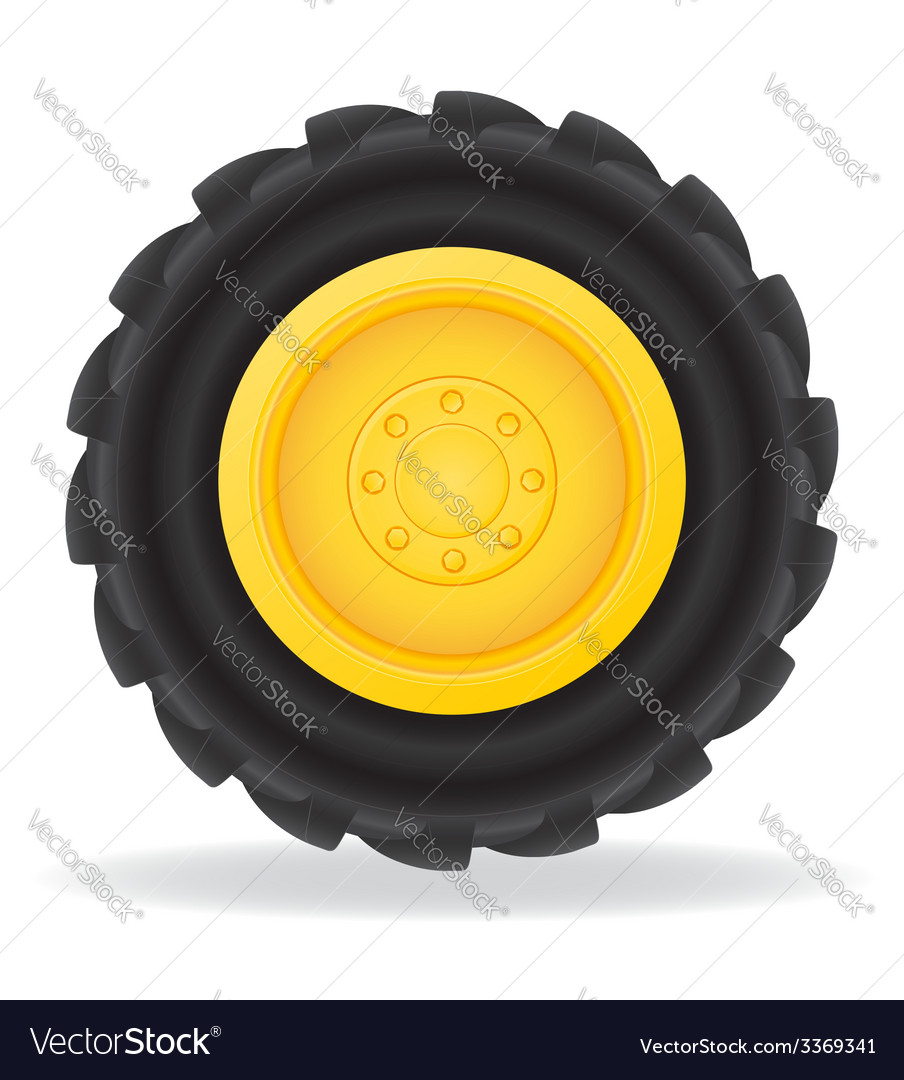 Wheel for tractor vector | Price: 1 Credit (USD $1)